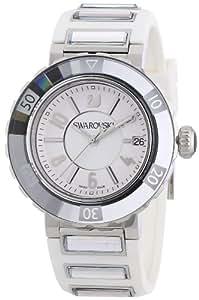 Swarovski - 999978 - Montre Femme - Quartz - Analogique - Bracelet Caoutchouc Blanc