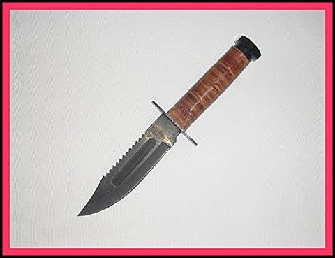 Kampfmesser Pilotenmesser / Fallschirmjäger mit Sägeklinge 23 cm ; 5