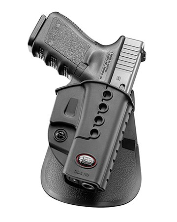 Fobus concealed carry New Design Paddle Holster for Glock 17 19 22 23 / Walther PK-380 / Kahr CW40, CM40, P40, PM40, P45 (Low-light-level)