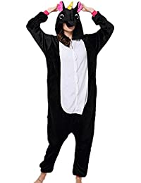 Jysport - Pijama de unicornio, unisex, con capucha de forro polar, disfraz cosplay