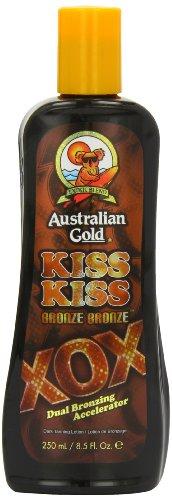 Australian Gold Kiss Bronze XOX Dual Bronzing Accelerator Dark Tanning Lotion 250 ml