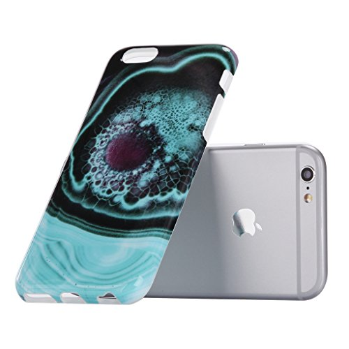 Coque iPhone SE / 5 / 5S, IJIA Ultra-mince Motif Marbre Naturel Blanc-Noir TPU Doux Silicone Bumper Case Cover Shell Coque Housse Etui pour Apple iPhone SE / 5 / 5S + 24K Or Autocollant color-KM5