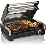 Stainless Steel Lid with Window : Hamilton Beach 25361 Indoor Grill