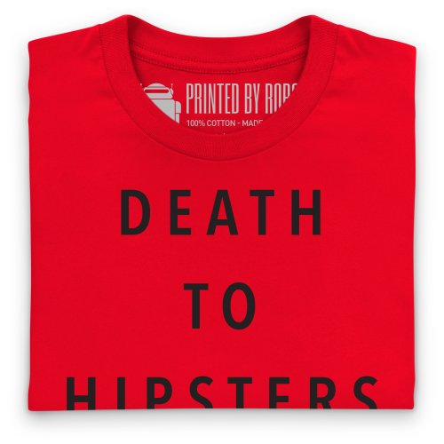 Death to Hipsters T-Shirt, Herren Rot
