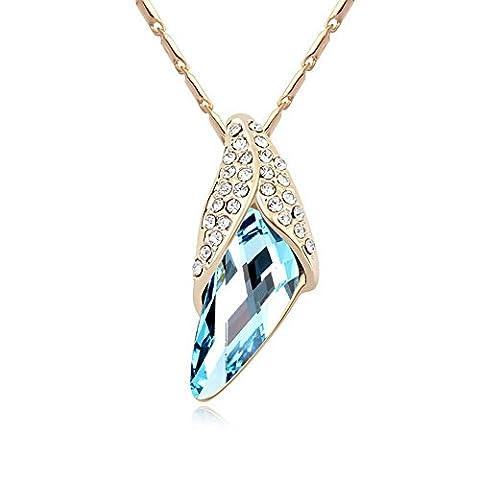 Alvdis Lozenge Style Swarovski Crystal Pendant Necklace, 16