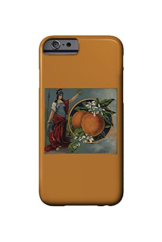Woman with Oranges - Citrus Crate Label (iPhone 6 Cell Phone Case, Slim Barely There) - Orange Crate Label