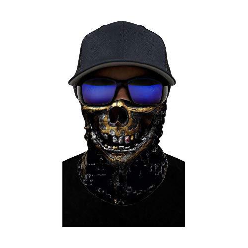 ZXYSR Balaklava Ghost Totenmaske, Halloween Kostüm Cosplay Warme Vollmaske Radfahren Motorrad Skifahren Outdoor Sports,A (Morgens Nach Dem Kostüm)
