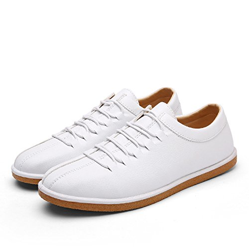 Men's Breathable Outdoor Leather Oxford Shoes S066 white