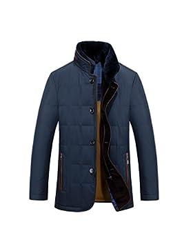 Escudo de Down chaqueta de abrigo nuevo pato blanco abajo del cuello de los hombres ocasionales , m