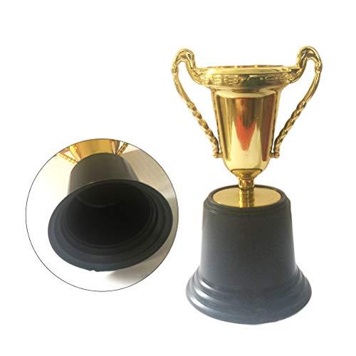 Toyvian 10pcs Cup Trophy Kunststoff-Trophäen für Kinder Wettbewerbe Preise Parteien Party Favors Requisiten Belohnungen Preise Spiele School Boys und Girls (Gold) 13cm