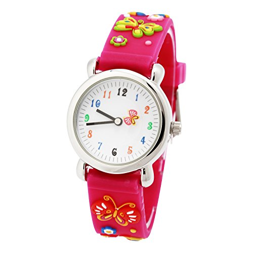 Silikon Armband 3D Cartoon Digital Wasserdicht Kinderuhr