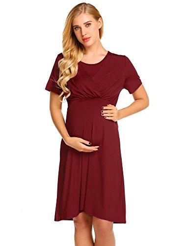 Zhenwei vestito premaman donna vestiti premaman pigiama allattamento manica corta