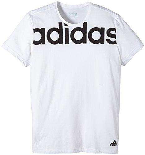 adidas Herren T-Shirt LIN Tee White/Black