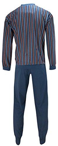 Bugatti Herren Schlafanzug Pyjama Blau