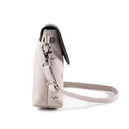 Bwiv Damen Canvas Umhängetasche Schultertasche Messenger Bag Crossbody Tasche für Outdoor F H