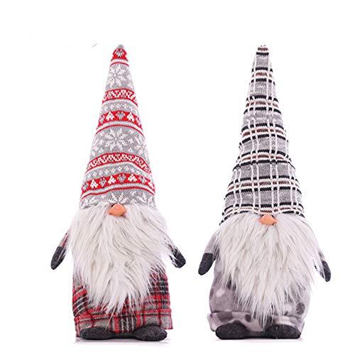 erg, Weihnachtsmann, Schwedisch, Weihnachten, Elf, Dekoration, Weihnachten, Geschenke, 35,6 cm 14 * 4inch Grey 2 Pack ()