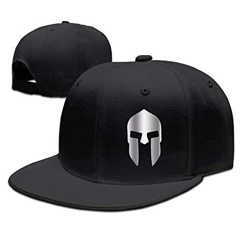 Youaini 300 Spartan Platinum Style Baseball Snapback Hat Black -