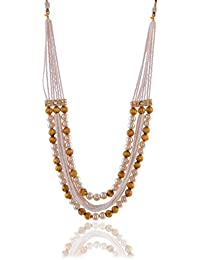Sinjara White & Gold Pearl Multi-strand Necklace Set For Women Party Wear (N-4)