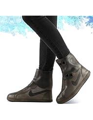 BBJOZ Stivali da Pioggia in Silicone Stivali da Pioggia Antiscivolo Riutilizzabili Impermeabili Trasparenti sacche poetascarpe (Color : Gray, Size : XXXL)