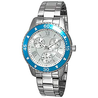 Invicta 21772 Angel Reloj para Mujer acero inoxidable Cuarzo Esfera plata