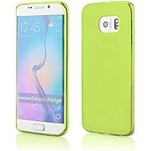Coque2mobile ® Carcasa de silicona y TPU para Samsung Galaxy S6 Edge, color verde