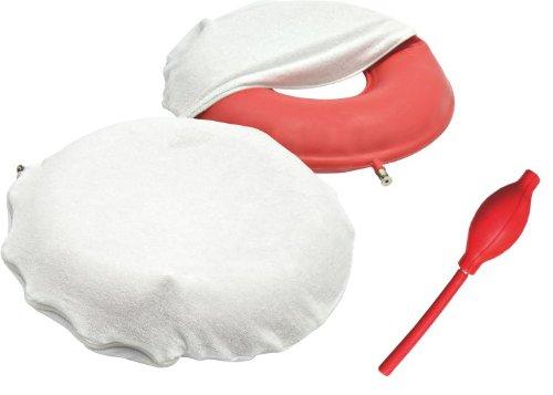 Luftkissen mit regulierbarem Druck 43 cm incl- Luftpumpe und Frotteebezug - Sitzkringel Sitzring Test