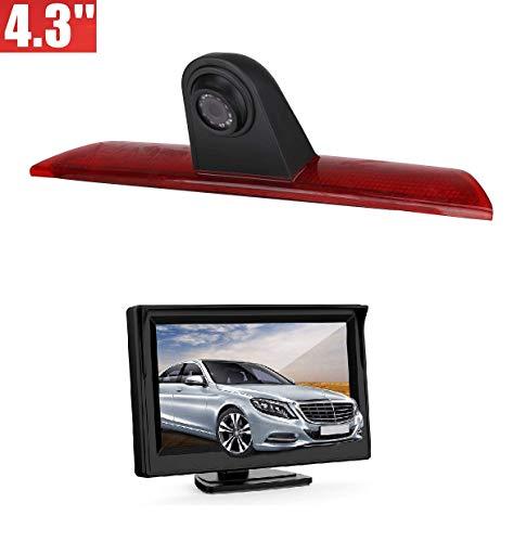 Dachkante Einparkhilfe Rückfahrkamera integriert in 3. Bremsleuchte Kamera für Ford Transit F150/F250/F350 (2014-2019) + 4,3