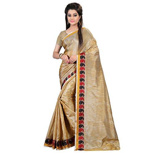 Glory Sarees Silk Cotton Saree (Silk102_Beige)