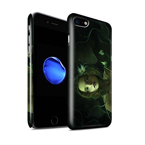 Officiel Elena Dudina Coque / Clipser Brillant Etui pour Apple iPhone 7 / Cerises Rouges Design / Un avec la Nature Collection Bain Caché