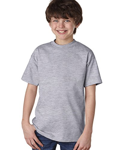 Hanes Youth 6.1 oz Tagless T-Shirt Light Steel