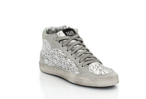 P448, Sneaker donna argento argento Argento