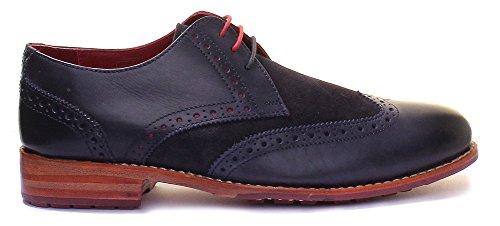 Justin Reece  Connor, Chaussures de ville à lacets pour homme Navy A