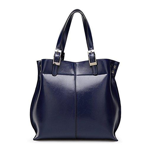 Mefly Eine Neue Feder Öl Wachs Tasche blue