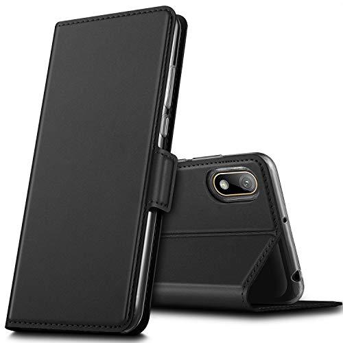 GEEMAI für Huawei Y5 2019 Hülle, für Huawei Y5 Prime 2019 Hülle, handyhüllen Flip Hülle Wallet Stylish mit Standfunktion & Magnetisch PU Tasche Schutzhülle passt für Huawei Y5 2019 Phone, Schwarz