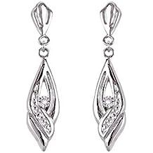 d425e0635240 Bijoux pour tous - Pendientes de oro blanco con diamante (0)