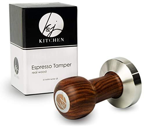 K&J Kitchen Premium Kaffee Tamper – Das perfekte Tool für Kaffeeliebhaber - Empfohlen von Barista Experten! (51mm)