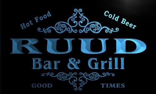 u38757-b RUUD Family Name Bar & Grill Home Brew Beer Neon Sign Barlicht Neonlicht Lichtwerbung