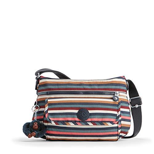 Kipling Damen SYRO Umhängetasche, Mehrfarbig (Multi Stripes), 31 x 22 x 12.5 cm -