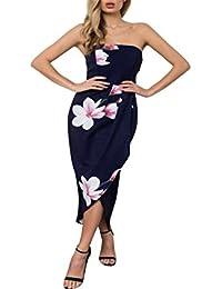 Femme ete Longue Simple Grande Taille Courte Chic Soiree Vintage,Casual Au  Large de l 8c3d03546019