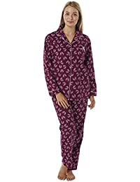 Suzy   Me Ladies Christmas Pyjamas Gift Pack. Ladies Stag Print Brushed  Winceyette Pyjamas. 5cc346a65