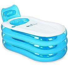 LJF baño inflable Bañera Hinchable Simple Baño Adulto Bañeras De Plástico Niños Doblando Espesamiento Grande