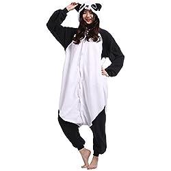 Wamvp Adulto Animal Pyjamas Kigurumi Unisexo Traje Disfraz Onesie Halloween -Panda S