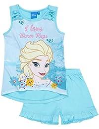 581e1613bb Disney Die Eiskönigin Elsa & Anna Mädchen Shorty-Pyjama 2016 Kollektion -  türkis