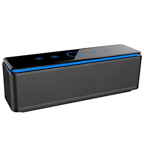Drahtloser Bluetooth-Lautsprecher 8000mAh Batterie-LED-Streifen, mobile Stromversorgung, Subwoofer 4 Lautsprecher Subwoofer 2 45mm + 2 40mm + 1 Niederfrequenz-Membranlautsprecher 20 Stunden Spielzeit Chef-auto-subwoofer