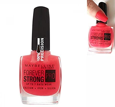 Vernis Forever Strong Super Stay 7 Days de Maybelline N°490 Rose Salsa