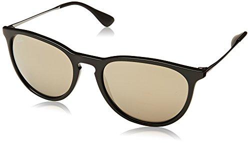 Ray-Ban Unisex Sonnenbrille RB4171, Gr. Large (Herstellergröße: 54), Mehrfarbig (Gestell: Schwarz/Gunmetal, Gläser: Gold Verspiegelt - Sonnenbrille Ban Schwarze Aviator Ray