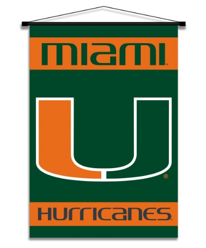 Bsi Produkte 87031 Indoor Banner Scroll - Miami Hurricanes