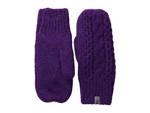 The North Face Women's Cable Knit Mitt Gravity Purple (Prior Season) LG/XL - Cable Knit Mitt