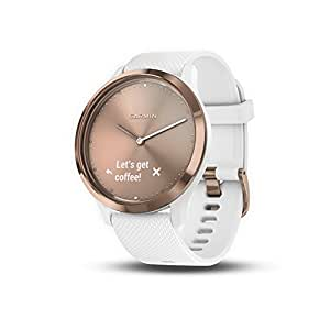 Garmin vÃvomove HR, Hybrid Smartwatch for Men and Women, White/Rose Gold