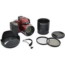 Kiwifotos 6Kit de lente para Nikon Coolpix P510, P520, P530–Incluye Adaptador de lentes, parasol, UV y CPL Filtros, y la tapa de la lente de la lente tapa Keeper